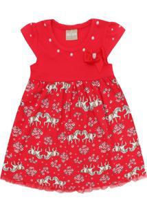 Vestido Milon Estampa Vermelho