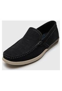 Sapato Democrata Pespontos Azul-Marinho