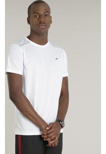 20c24d711b Camiseta Masculina Esportiva Com Estampa Camuflada Ace Manga Curta Gola  Redonda Branca