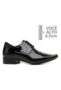Sapato Com Salto Interno Jota Pe Verniz Preto Air Conforto 79609