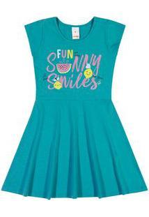 Vestido Marisol Play Azul Menina Vestido Marisol Play Azul Bebê Menina