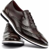 4ff05af7f Sapato Social Gofer Com Cadarço Solado De Couro Masculino - Masculino-Marrom