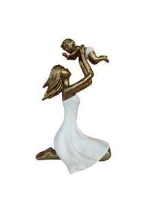 Escultura Máe E Filho Em Resina 19Cm - Mabruk