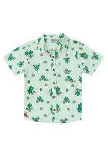 Camisa Infantil Rovitex Kids Verde