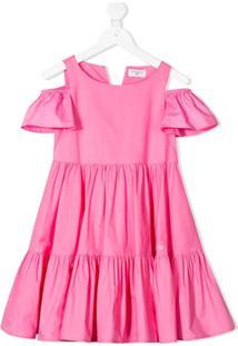 Monnalisa Vestido Godê Com Amarração - Rosa
