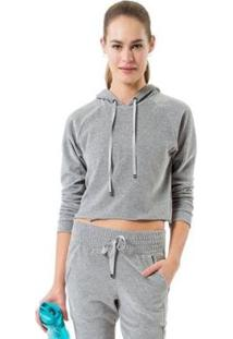 Jaqueta Cropped Sweatshirt Evolve Live - Feminino