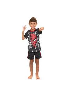 Pijama Infantil Masculino Homem Aranha Evanilda
