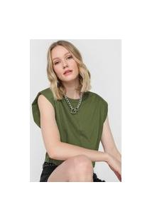 Camiseta Cropped Colcci Muscle Tee Verde