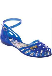 Sandália Azul Detalhe Laço
