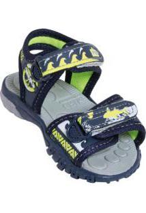 Sandália Infantil Marinho Com Velcro