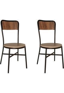 Conjunto Com 2 Cadeiras De Cozinha Carla Corino Bege