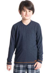 Pijama Infantil Masculino Xadrez Longo Renato
