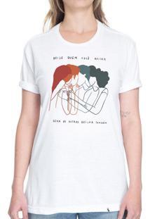 Beije Quem Você Quiser #Pride - Camiseta Basicona Unissex