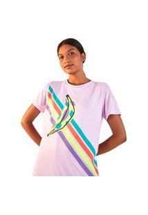 Camiseta Farm Rio Silk Bananas - Feminina