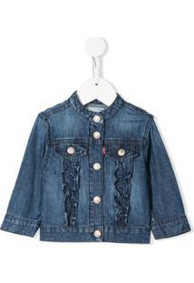 Levi'S Kids Jaqueta Jeans Com Babados - Azul