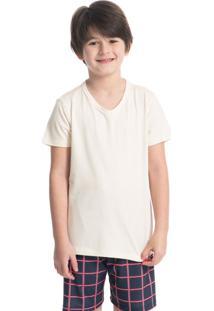 Pijama Infantil Masculino Xadrez Curto Jingle Bells