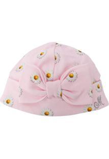 Monnalisa Daisy Print Hat - Rosa