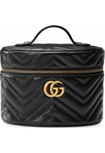Gucci Nécessaire Gg Marmont Pequena - Preto