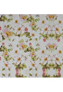 Papel Parede Flores Brancas 1,50 X 0,60 - Branco - Dafiti