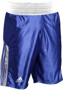 Shorts De Boxe Adidas Listras Azul