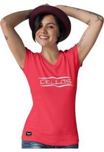 Camiseta Gola V Cellos Representation Premium Feminina - Feminino