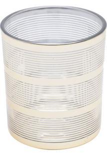 Castiçal Mirror- Incolor & Dourado- 7Xø7Cm- Urbaurban