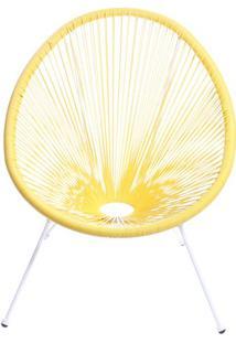 Cadeira Acapulco- Amarela & Branca- 85X74X48Cm- Or Design