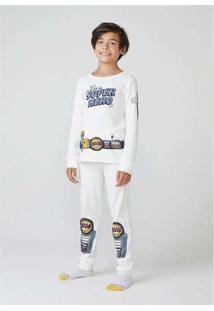 Pijama Infantil Menino Em Ribana Off-White