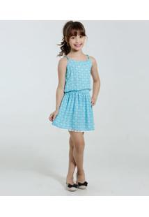 Vestido Infantil Estampa Flores Marisa