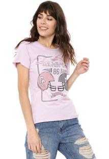 Camiseta Coca-Cola Jeans Enjoy The Game Roxa