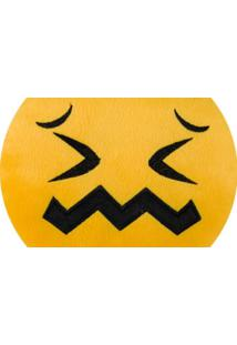 Almofada Capital Do Enxoval Emoji Desconcertado Estampado