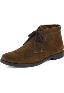 Botina Gasparini Luxury Desert Boots Chelsea Com Cadarço Café