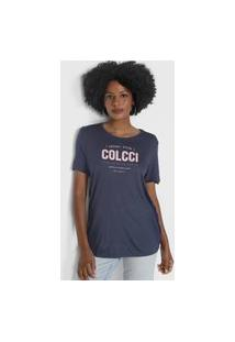 Camiseta Colcci Favorite Choice Azul-Marinho