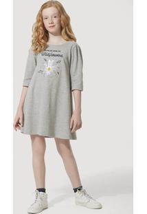 Vestido Curto Infantil Menina Com Estampa Paetê Hering Kids