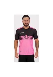 Camisa Ícone Sports Eagle Rosa E Preta