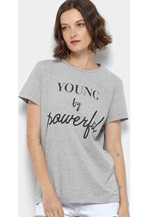 Camiseta Colcci Young By Powerful Feminina - Feminino-Mescla