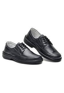 Sapato Ortopédico Masculino Com Cadarço Em Couro Cla Cle Cr-1004