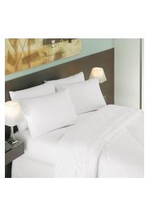 Lençol Casal Teka Safira Para Hotel Profiline Branco 250 Fios