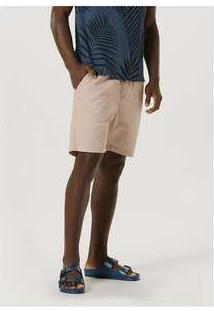 Bermuda Básica Masculina Em Tecido De Algodão Rosa