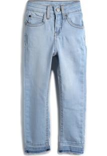 Calça Jeans Calvin Klein Kids Menina Lisa Azul