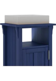 Gabinete Para Banheiro 1 Porta Mission Azul - Mão & Formão