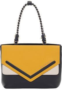 c9cad36d6 Bolsa Couro Smartbag Tiracolo - Feminino-Amarelo