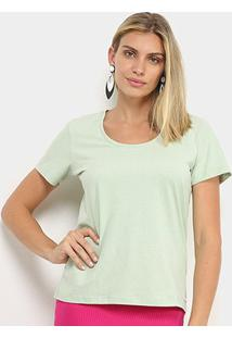 Camiseta Colcci Básica Feminina - Feminino-Verde Claro