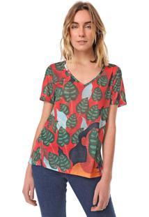 Camiseta Cantão Subli Iaia Vermelha/Verde
