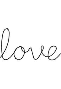 Letreiro Decorativo Love Incolor