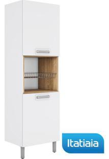 Módulo Cozinha Vita Paneleiro Profundo 2 Portas Esquerdo - Iplp-60Nhc - Branco Com Carvalho - Itatiaia
