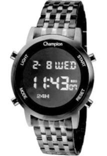 Relógio Champion Digital Ch48108D Feminino - Feminino-Preto