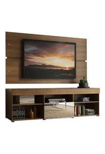 Rack Com Painel Para Tv Até 65 Polegadas Madesa Dublin 1 Porta Com Espelho Rustic Xa70035Z1-1E
