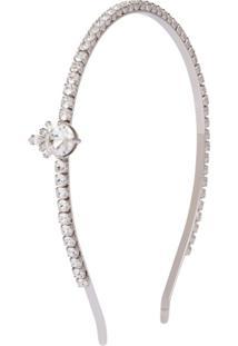 Miu Miu Headband Queen Crystal Jewels - Prateado