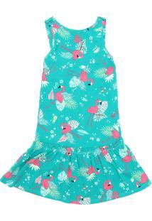 Vestido Rovitex Flamingo Verde
